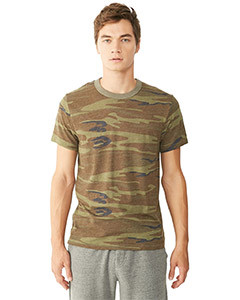 Alternative Men's Printed Short Sleeve Crew T-Shirt
