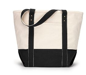Gemline Seaside Zippered Cotton Tote Bag