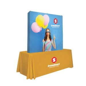 6' Straight Splash Tabletop Wrap Kit (Block-Out Fabric)