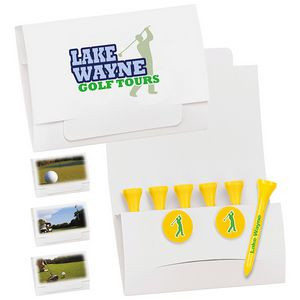 """BIC Graphic® 6-2 Golf Tee Packet w/2 Ball Markers - 2 3/4"""" Tees"""