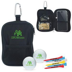 Valuables Pouch Golf Kit w/ Titleist® DT TruSoft™ Golf Balls