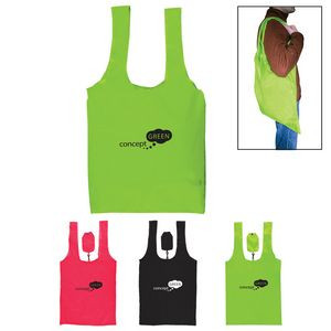 Jumbo Folding Polyester Grocery Tote
