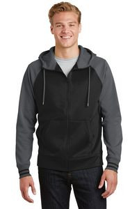 Sport-Tek® Men's Sport-Wick® Varsity Fleece Full-Zip Hooded Jacket