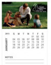 BIC® 30 Mil Business Card Magnet w/12 Sheet Calendar & Note Lines