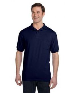 Hanes Printables Adult 5.2 oz., 50/50 EcoSmart® Jersey Pocket Polo