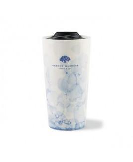 Celeste Ceramic Tumbler - 13.5 Oz. - Blue Watermark