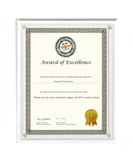 """Clear on Clear Blank Acrylic Certificate Holder (13""""x10 1/2""""x3/8"""")"""