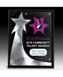 """The Rising Star Plaque - Screen Printed - (8"""" x 10"""" x 3/4"""")"""