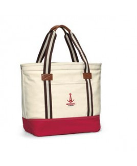 Heritage Supply Catalina Cotton Tote Natural-Red