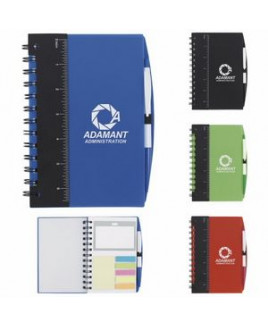 "5""x7"" Good Value® Ruler Notebook w/Flags & Stylus Pen"