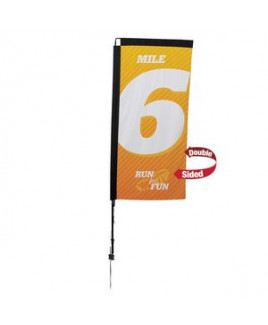 7' Premium Rectangle Sail Sign, 2-Sided, Ground Spike