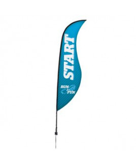 13' Premium Sabre Sail Sign, 1-Sided, Ground Spike