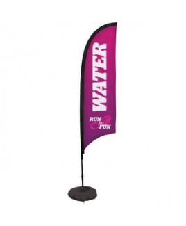 7' Premium Razor Sail Sign, 1-Sided, Scissor Base