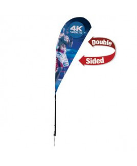 6' Streamline Teardrop Sail Sign, Double-Sided, Ground Spike