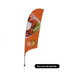 10.5' Value Razor Sail Sign - 1-Sided with Ground Spike