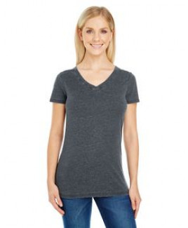 THREADFAST Ladies' Vintage Dye Short-Sleeve V-Neck T-Shirt
