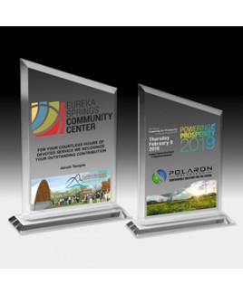 "PhotoImage® Peak Billboard Award w/4-Color Process (5 1/2""x 8 3/4""x 3/8"")"