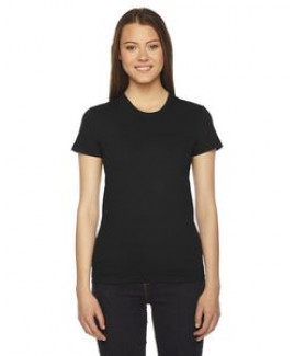 American Apparel Ladies' Fine Jersey USA Made Short-Sleeve T-Shirt
