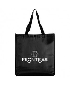 Oversized Laminated Non-Woven Snap Tote