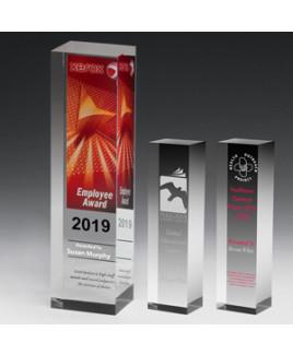 "Monument Obelisk Award (2 1/2""x7 1/2""x2"") - Laser Engraved"