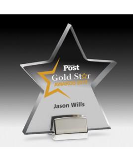 Star Award w/Chrome Base - 4 Color Process