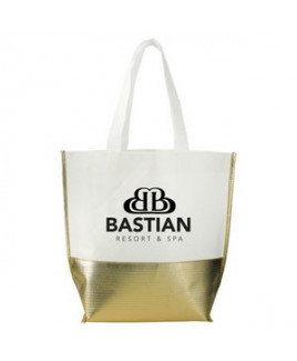 Non-Woven Mini Metallic Bottom Laminated Tote