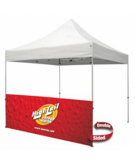 10' Half Wall w/Bar (Standard, 2-Sided, Dye Sublimation)