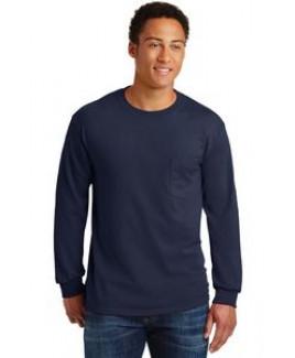 Gildan® Men's Ultra Cotton® 100% Cotton Long Sleeve T-Shirt w/Pocket