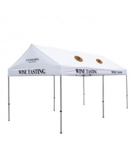 10' x 20' Gable Tent Kit (Full-Color Imprint, 8 Locations)