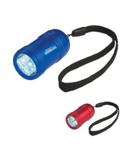 Aluminum Small Stubby LED Flashlight With Strap