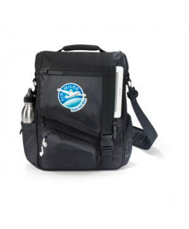 Life in Motion® Momentum Computer Messenger Bag Black