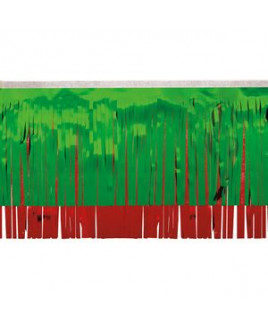 """Victory Corps Metallic Green & Red Fringe (15"""")"""