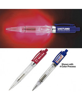 """Loma"" Light Up Pen w/ Red Color LED Light"