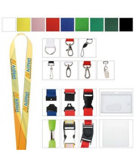 """5/8"""" Universal Source™ Polyester 4 Color Lanyard"""