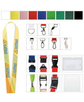 """Polyester 4 Color Process Lanyard (1""""x19 5/8"""")"""