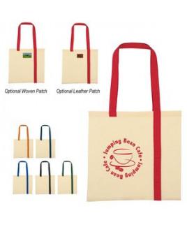 Striped Economy Cotton Canvas Tote Bag