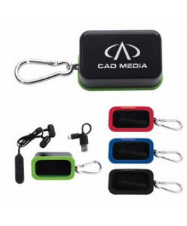 Good Value® Bluetooth® Earbuds In Caribiner Case