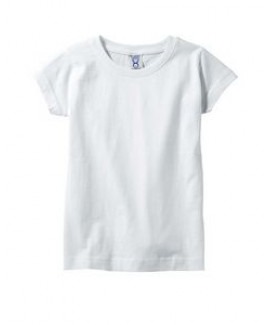 4.5 Oz. Rabbit Skins Girls' Fine Jersey T-Shirt