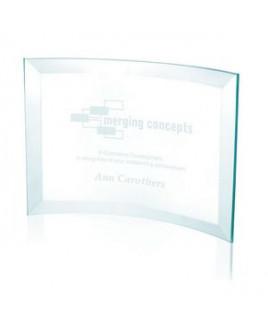 Jaffa® Jade Crystal Scroll Award - Medium