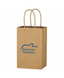 """Kraft Paper Brown Shopping Bag - 5-1/4"""" x 8-1/4"""""""
