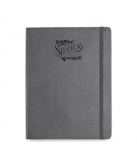 Moleskine® Hard Cover Ruled X-Large Notebook Grey