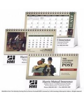 Triumph® The Saturday Evening Post Illustrations Desk Calendar