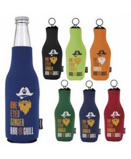 Neoprene Zip Up Bottle Koozie® Kooler