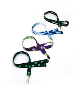 """3/4"""" Digital Sublimation Recycled Lanyard w/ Deluxe J-Hook"""