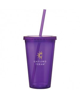 16 Oz. Purple Spirit Tumbler Cup