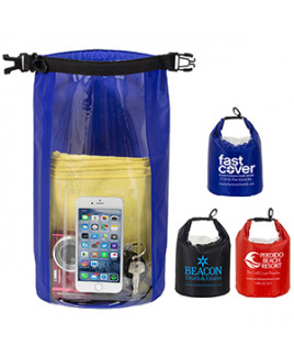 """""""The NavagioL"""" 5.0 Liter Water Resistant Dry Bag w/Clear Pocket Window"""