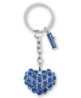3-D Bling Key Tag - Heart