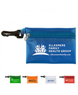 Translucent Zipper Storage Pouch Bag w/ Plastic Hook (Overseas)