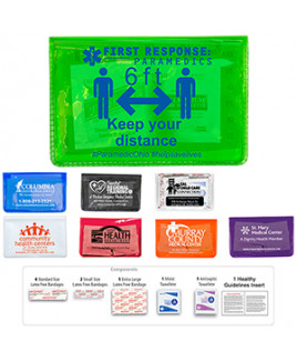 """""""Heal-on-the-Go L"""" 10 Piece Economy Healthy Living Pack in Colorful Vinyl Pouch"""