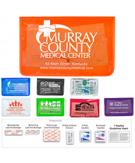 """""""Heal-on-the-Go XL"""" 15 Piece Economy Healthy Living Pack in Colorful Vinyl Pouch"""